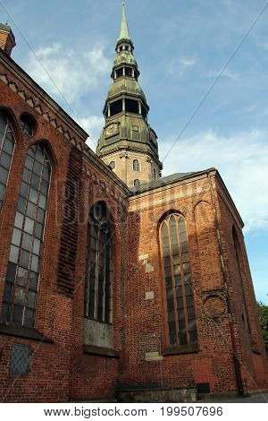 Riga Litva July 31 2017 St. Peter's Church