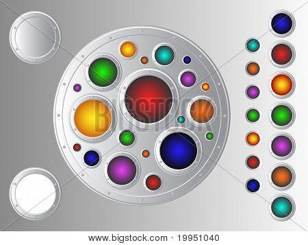 Metallic Buttons Set