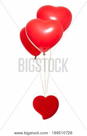 Fancy Box With A Red Heart-shaped Balloon