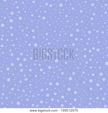 Light polka dots seamless pattern on purple background. Fascinating classic light polka dots textile pattern in restrained colours. Seamless scattered confetti fall chaotic decor. Vector illustration. poster