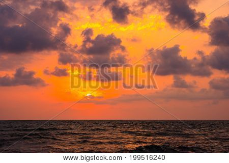 Sunset. Beautiful Sunset Black Sea. Gold Sea Sunset. Sunset Sea Waves. Summer Sunset