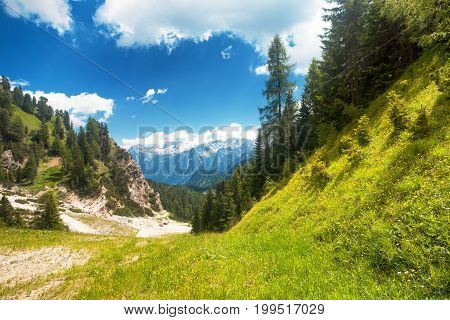 Landscape from The Dolomites near to Cortina Italy