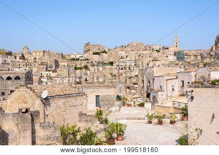 Sasso Caveoso district in the Sassi of Matera Basilicata Italy
