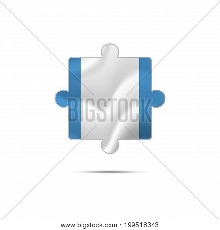 Isolated piece of puzzle with the Guatemala flag. Vector illustration.