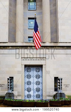 Department of Justice Building in Washington DC United States