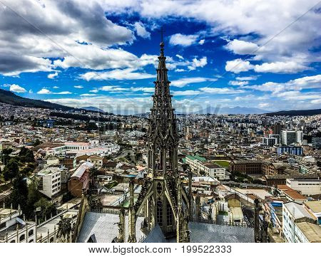 Photo Taken From The Basilica Del Voto National In Quito, Ecuador.