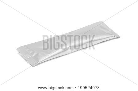 Blank Packaging Coffee Stick Pouch Isolated On White Background