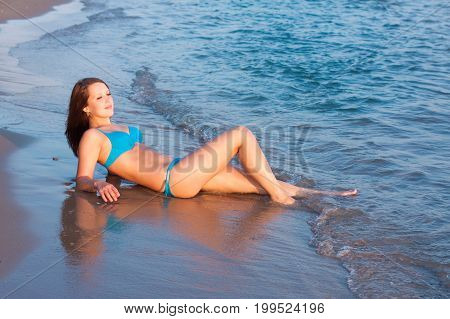 Young Girl On The Sea