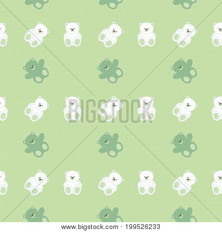 background of fluffy white and jade green bear