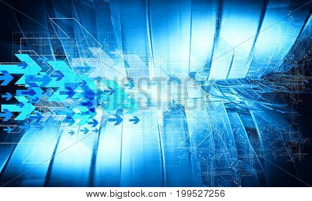 3D rendering of technology background