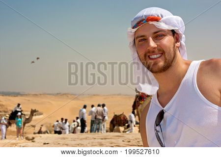 Young man in Cairo, Egypt