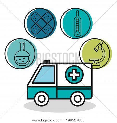 ambulance vehicle medical emergency design vector illustration