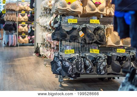 Various Type Of Women Lingerie Or Underwear Shop
