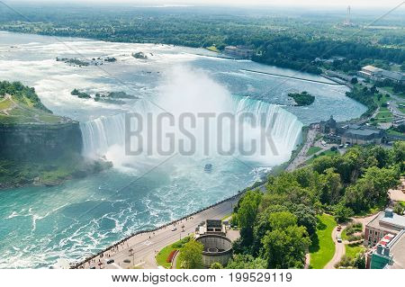 Niagara Falls Horse Shoe View From The Canadas Side