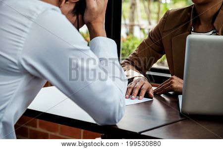 Young Frustrated Businessman Receiving Dismiss Notification From His Partner For Incompetence