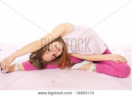 little girl exercise