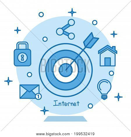 target icon concentric aiming marketing business internet concept vector illustration