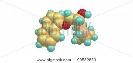 Propranolol is a medication of the beta blocker type. It is used to treat high blood pressure irregular heart rate thyrotoxicosis capillary hemangiomas. 3D illustration