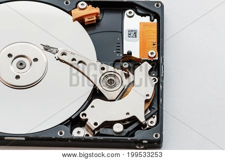 Notebook hard drives on the white background.