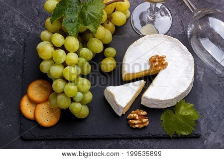 Slate Board With Cheese Brie