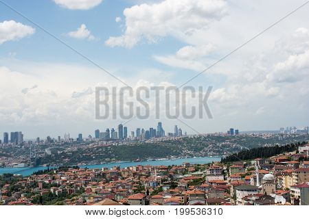 Istanbul Bosporus With Two Continents