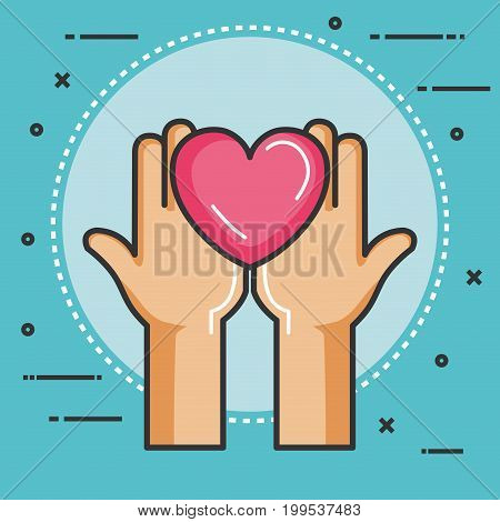 charity and donation give and share your love to poor people vector illustration