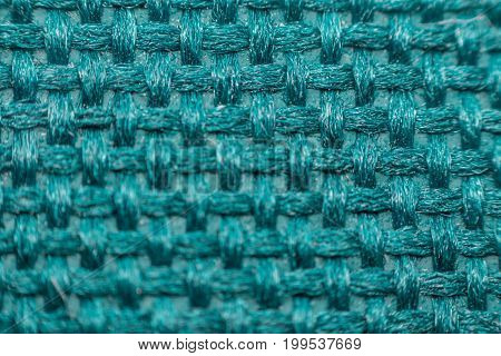 Macro Of Fabric Weave Texture Surface