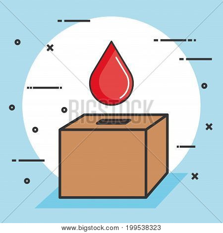 ballot box with a blood drop donation concept vector illustration