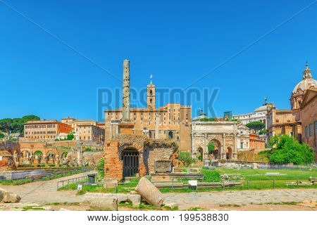 Archaeological And Historical Objects In Rome, United By The Name - Roman Forum And Palatine Hill.