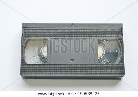 video tape recorder on the white background