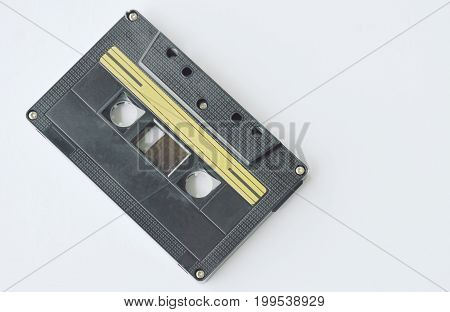 cassette tape recorder on the white background