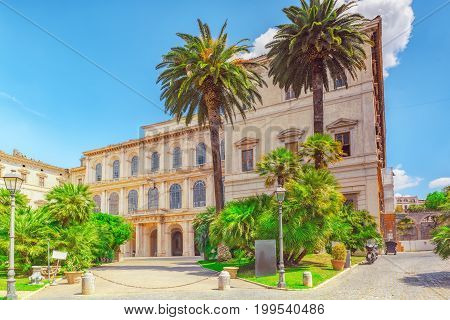 Barberini Palace (palazzo Barberini ) .palazzo Barberini  Is A 17Th-century Palace In Rome, Facing T