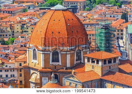Beautiful Landscape Above Urban And Historical View Of The Florence From Giotto's Belltower (campani