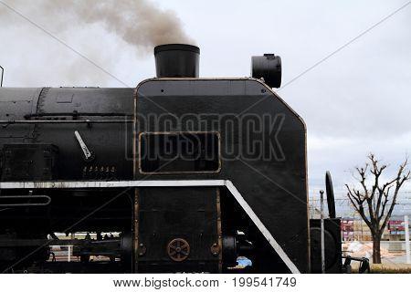 Steam Locomotive In Umekoji Steam Locomotive Shed, Kyoto, Japan
