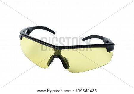 Bicycle sunglasses isolated on white background for bike rider