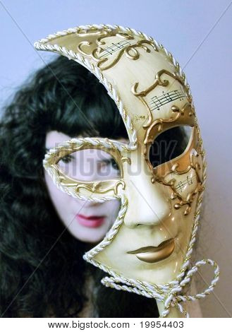 Woman Behind Mask