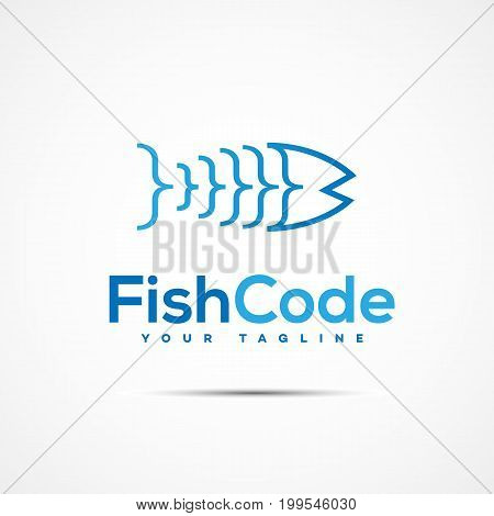 Software coding writer company logo template design. Vector illustration.