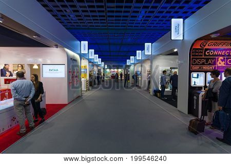 BERLIN - SEPTEMBER 04 2015: In the pavilions of the exhibition. International radio exhibition Berlin (IFA)