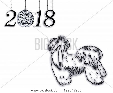 2018 The Zodiac. Year of the dog brings prosperity and good luck. Chinese calendar for the year of the dog 2018. Vector illustration