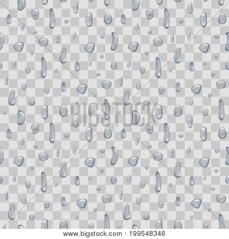 Water Pure Drops Background Pattern Design Element Nature Rain or Dew. Vector illustration