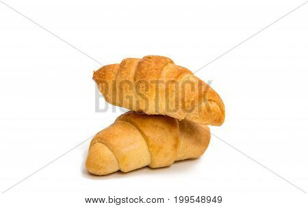 croissant Bake, Baked on a white background