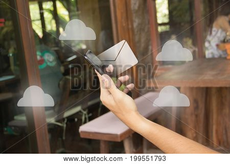 Business on hand concept idea technology business