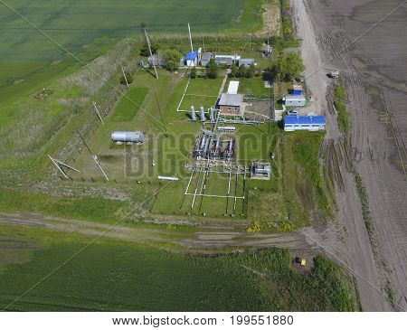 Equipment For The Drying Gas And Condensate Collection. Top View. Top View Of The Equipment For Oil