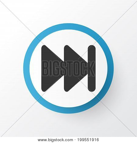 Premium Quality Isolated Forward Element In Trendy Style.  Next Icon Symbol.