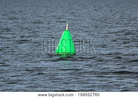 beacon and buoy on the water, Lake Entrance