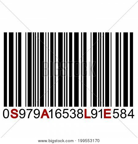 Illustration of SALE message on bar code