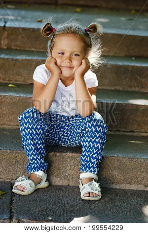 Little Girl On The Walk
