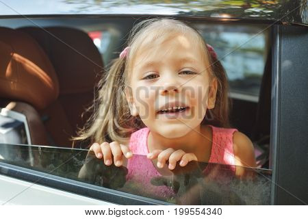 Young Happy In  Car