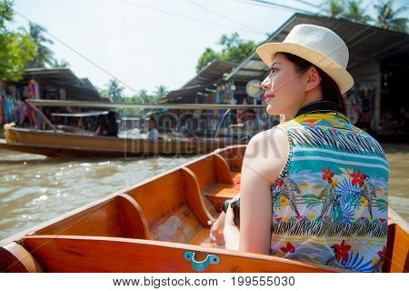 Asian Tourist Travel Woman Looking View