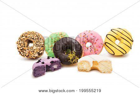 glazed donuts bakery on a white background